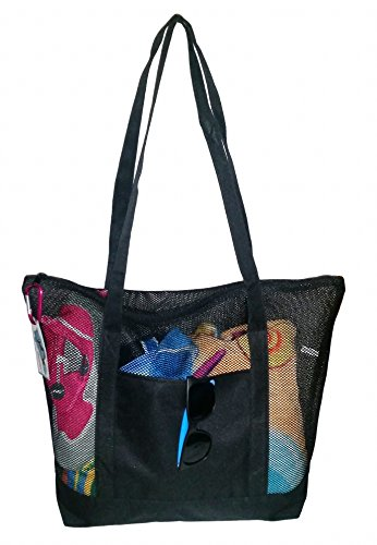 Our #10 Pick is the 101Snorkel Mesh Beach Tote Bag