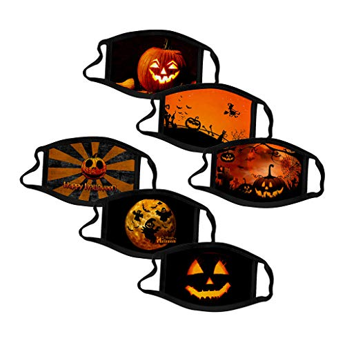 AHAYAKU Kid and Adult face Guard Halloween Spoof Windproof Shields Washable Reusable dust Respirator(Multiple Pieces)