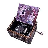 Youtang Elfen Lied - Caja de música grabada de madera mini manivela impresa con imagen musical para Navidad, regalo de cumpleaños, imagen 2