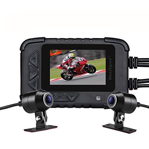 Blueskysea DV688 motorcycle Dash Cam con GPS 1080p Dual Lens motorcycle recording camera schermo LCD 6 cm IP67 (Dashcamera per auto + GPS)