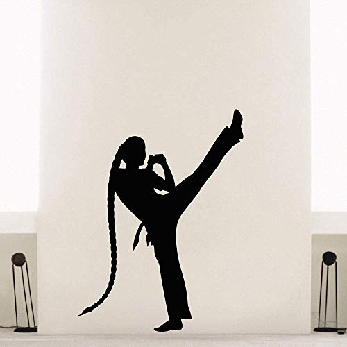 wandaufkleber art deco wandbild applique abnehmbare wasserdichte tapete Vinyl Aufkleber Gym Sport Martial Arts Karate Dekor 57x76cm