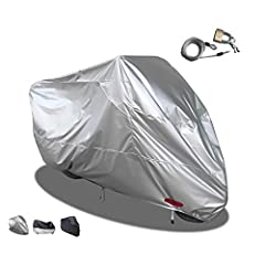 Take care of your motorcycle: If you like your motorcycle, you should learn how to protect your motorcycle,this motorcycle cover will provide excellent indoor/outdoor protection for your motorcycle. Double protection: Two lock holes are reserved on t...