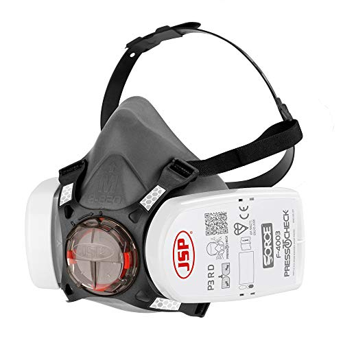 JSP BHT0A3-0L5-N00 Respiratore, Force 8, a mezza faccia, filtro P3, sistema press to check
