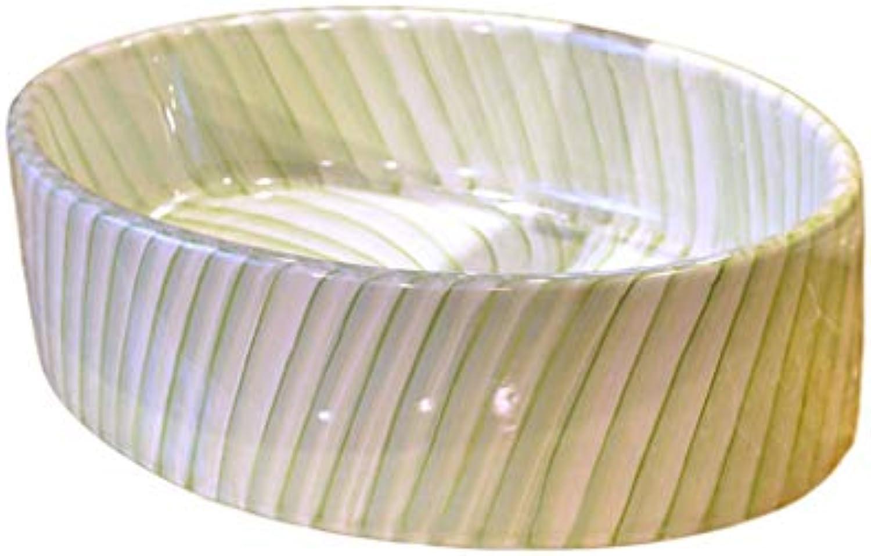 Badezimmer-ovale Linie keramisches Waschbecken, das Hnde Pool über Gegenbecken-Wannen-Behlter wscht Waschpltze
