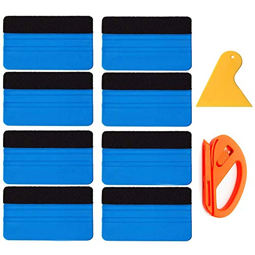 8 Pack Felt Squeegee Wrapping Tool, 4'' Inch Premium Scratch-Proof Decal Vinyl Wrap Squeegee Handy Tools for Vinyl Installation, Scrap Booking, Wall Decals