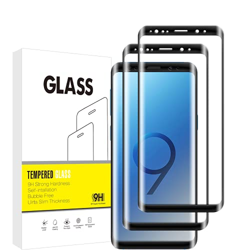 Protector de Pantalla para Samsung Galaxy S8/S9,3D Cobertura Completa, Sin Burbujas, Dureza 9H,Vuciya Vidrio Templado, Antihuellas,[2Pack],Antiarañazos, para Samsung Galaxy S8/S9