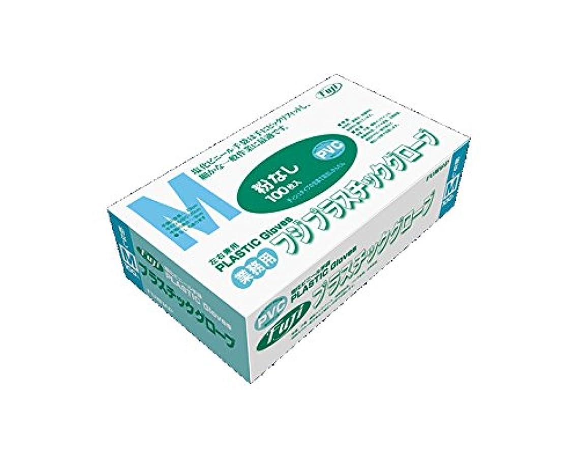 できない一致する花輪フジ プラスチックグローブM粉無PVC 入数:100枚×20箱