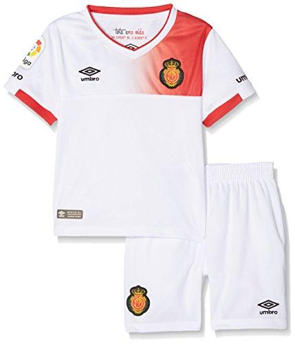 UMBRO RCD Mallorca Away Conjunto de Camiseta y pantalón, Hombre, Blanco, 2-3 años