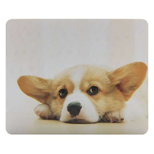 CIAOYE Mouse Pad Synthetic Leather Rectangle Slim Gaming Mouse Pad Anti Slip High Pixel Mousepad,Corgi