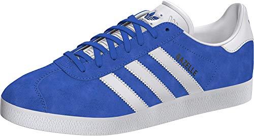 adidas Gazelle, Scarpe da Ginnastica Uomo, Blue/Ftwr White/Gold Met, 42 2/3 EU