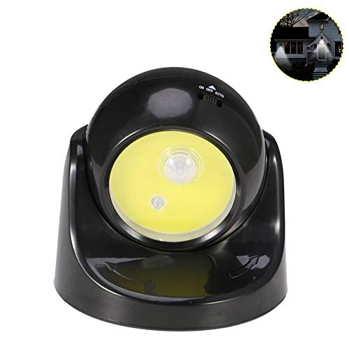 WTKONL Bewegungssensor Nachtlicht Schnurlose Batteriebetriebene Außenfühler Schalter Wandleuchte Rotierende Nachtlampe