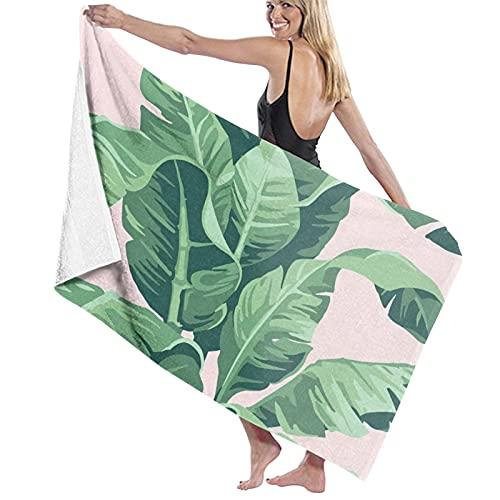 asdew987 Beverly Hills - Juego de toallas de playa con estampado de plátano, color rosa