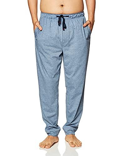 Nautica Herren Men's Sustainable Knit Sleep Pants Pyjamahose, Deep Anchor meliert, Large