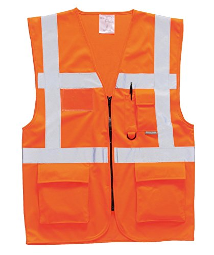 Portwest Sicherheitsweste Berlin S476, Size 5X-Large, Orange, 1