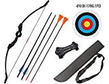 DOSTYLE Outdoor Youth Recurve Bow and Arrow Set Children Junior Archery Training for Kid Teams Game Gift