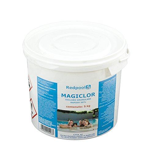 5Kg Cloro dicloro granulare rapido 56% disinfezione acqua piscina 9010009