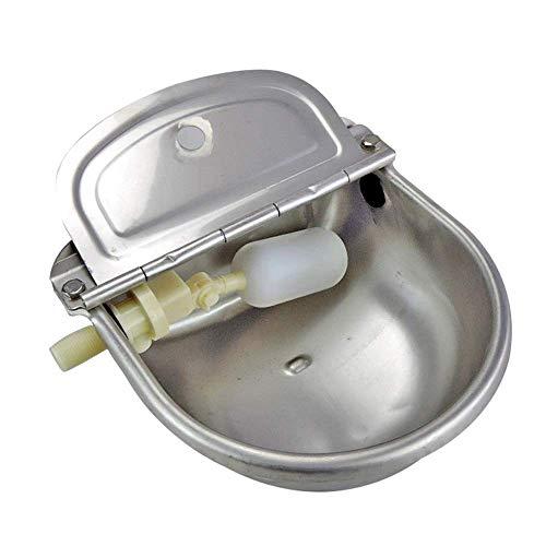 MZH Válvula de flotador de acero inoxidable, cuenco de bebedero automático para caballos, ganado, cabra, oveja, cerdo, perro, abrevadero, suministros agrícolas, herramienta de alimentación para ahorro