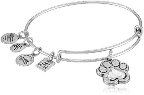Alex and Ani Prints of Love Expandable Rafaelian Silver Bangle Bracelet