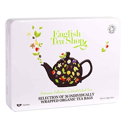 English Tea Shop Luxury Collection White Tin Envelopes, 69 Gram