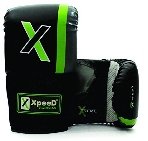 XpeeD XP 303 Men's Xtreme PVC Bag Gloves (Black Green, Free Size)
