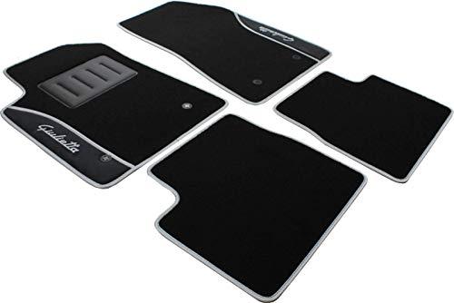 Il Tappeto Auto – Auto-Fußmatten-Set, bestickt, Color-Line ND silber / schwarz