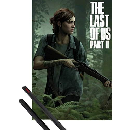 1art1 The Last of Us Poster Stampa (91x61 cm) 2, Ellie E Coppia di Barre Porta Poster Nere