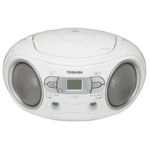 東芝 CDラジオ ホワイト TY-C10(W)
