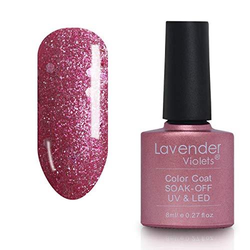 Soak-off Nail Gel Polish Glitter 8ml Pink Flambe