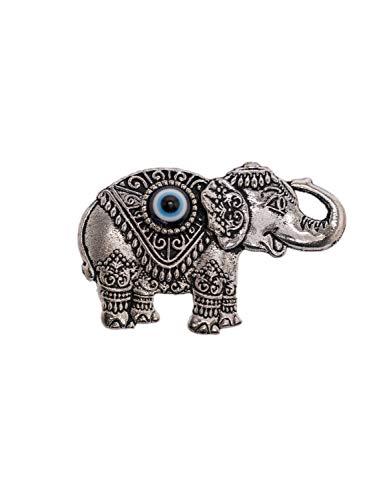 Remi Bijou Magnet Deko Elefant mit 'Nazar Boncuk'- Türkisches Auge - Talisman Glücksbringer