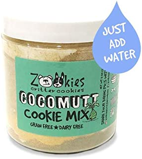 Zookies Cookies All-Natural DIY Bake at Home Dog Treat Mix 100% Organic Up to 3 Dozen Snacks (5oz) As Seen on Shark Tank Made in USA Pet Biscuits - Makes 3 Dozen Treats