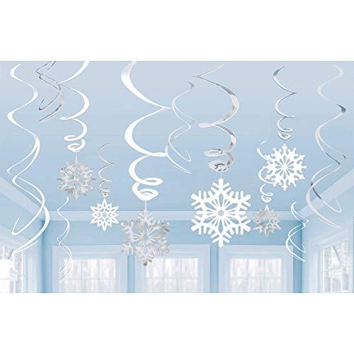 Amscan Swirls Schneeflocke im Vorteilspack