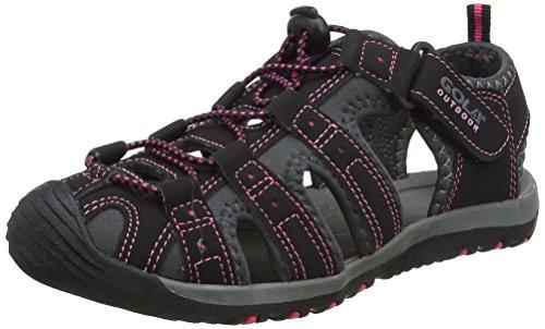 Gola Gola Damen Alp648 Hallenschuhe, Schwarz Black Hot Pink, 36 EU