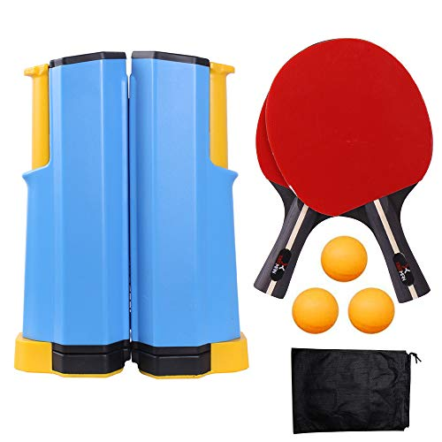 Save %67 Now! LULIKE Upgrade Retractable Ping Pong, 1 Ping Pong Retractable Net, 2 Wooden Ping Pong ...