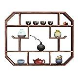 CHenXy Estante de Pared, gabinete de exhibición múltiple de Madera Simple, nostálgico Chino,...