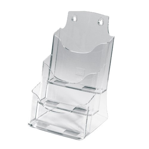 SIGEL LH132 Porta-folletos de sobremesa acrylic, con 3 compartimentos, Material acrílico, para A5, 1 unds.