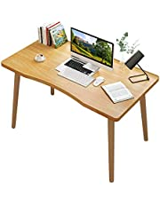 Computer Table Desk Large Laptop Table Computer Workstation Ergonomic Design Solid Wood Table Leg 100x60x73cm with Wrist Mouse Pad for Home Office Working Studying and Gaming
