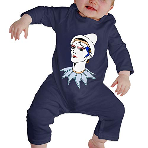 Happiness Station Bowie Pierrot Baby Playsuit Long Sleeve Outfits Infant Boys Girls Rompers 0-24 Months Babies Jumpsuit Clothes Kids Playsuits Toddlers Outfits
