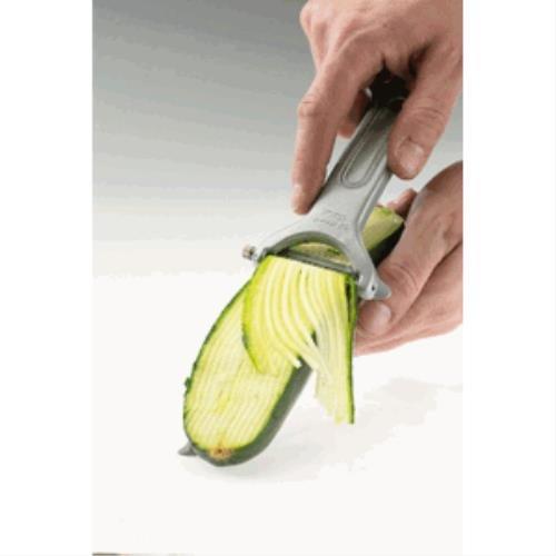 Westmark 6096RT60 Couteau à Julienne Retro-Quick-Spécial en Aluminium/INOX, Argent, 12,8 x 7,7 x 1,5 cm