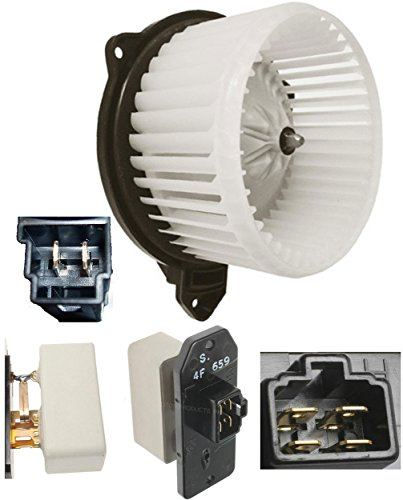 APDTY Blower Motor & Blower Speed Control Resistor Kit For 2002-2008 Dodge Ram 1500 2500 3500 Pickup