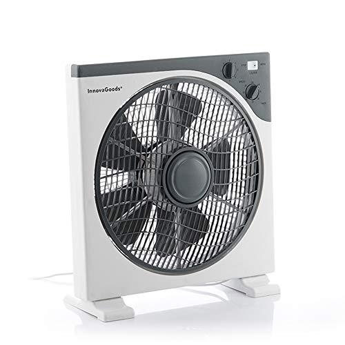 Ventilatore da pavimento Box Ø 30 cm 50 W Bianco Grigio