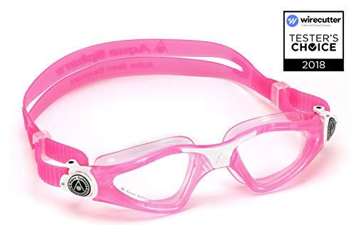 Aqua Sphere Unisex-Baby Kayenne Junior Schwimmbrille, Klare Gläser - Pink/Weiß, One Size
