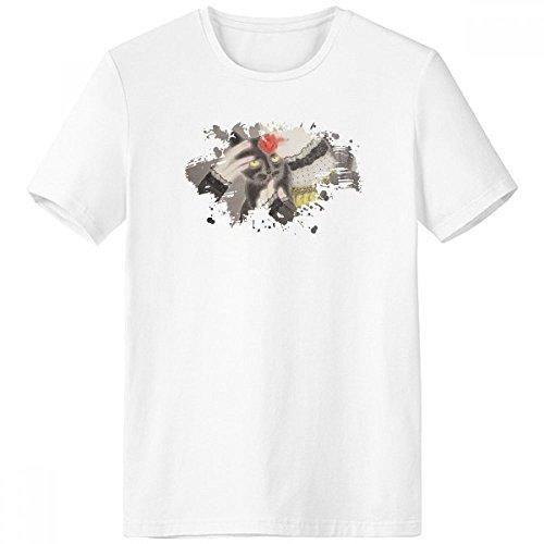 Beauty zwarte kat Chinese stijl aquarel penseel bemanning hals wit T-Shirt Tagless comfort sport T-Shirts Gift