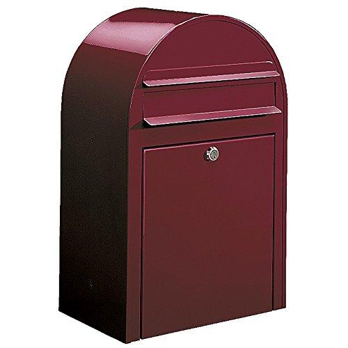 Bobi Classic Briefkasten RAL 3005 Bordeauxrot Wandbriefkasten