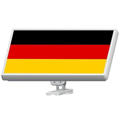 MK-Digital Sticker Folie für SelfSat Flachantenne H30D Serie mit Deutsche Fahne Motiv