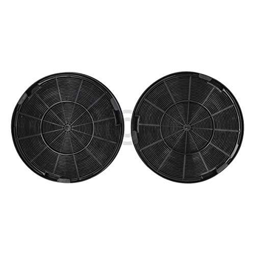 Lot de 2 filtres à charbon DL-pro compatibles avec Electrolux 9029793578 compatible Faber EFF62 Compatible Whirlpool 48400008674 Compatible avec Bosch 00748732 pour hotte aspirante