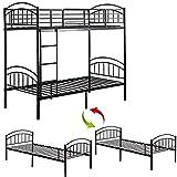 TOOLACC Marco de cama de metal macizo, litera desmontable con cabecera y estribero, camas individuales de 91 cm, muebles de dormitorio para adultos y niños adolescentes