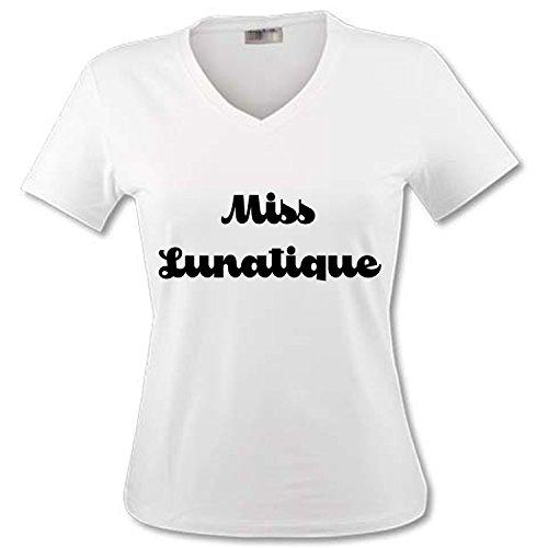 YONACREA - T-Shirt Col V Adulte - Miss Lunatique - S