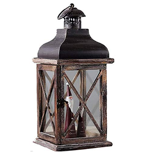 Leeslamp leeslamp tafellamp leeslamp Europees retro hout kaarsen winddicht kandelaar tafeldecoratie kandelaar voor terras