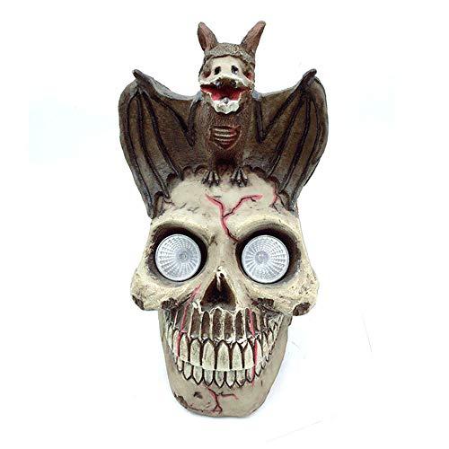 Hauptlicht Harz Handwerk Halloween kreative Schädel Schädel Halloween Dekorationen kreative Ornamente Fledermaus Schädel