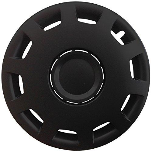 (Größe wählbar) 16 Zoll Radkappen / Radzierblenden GANI (Schwarz) passend für fast alle Fahrzeugtypen – universal